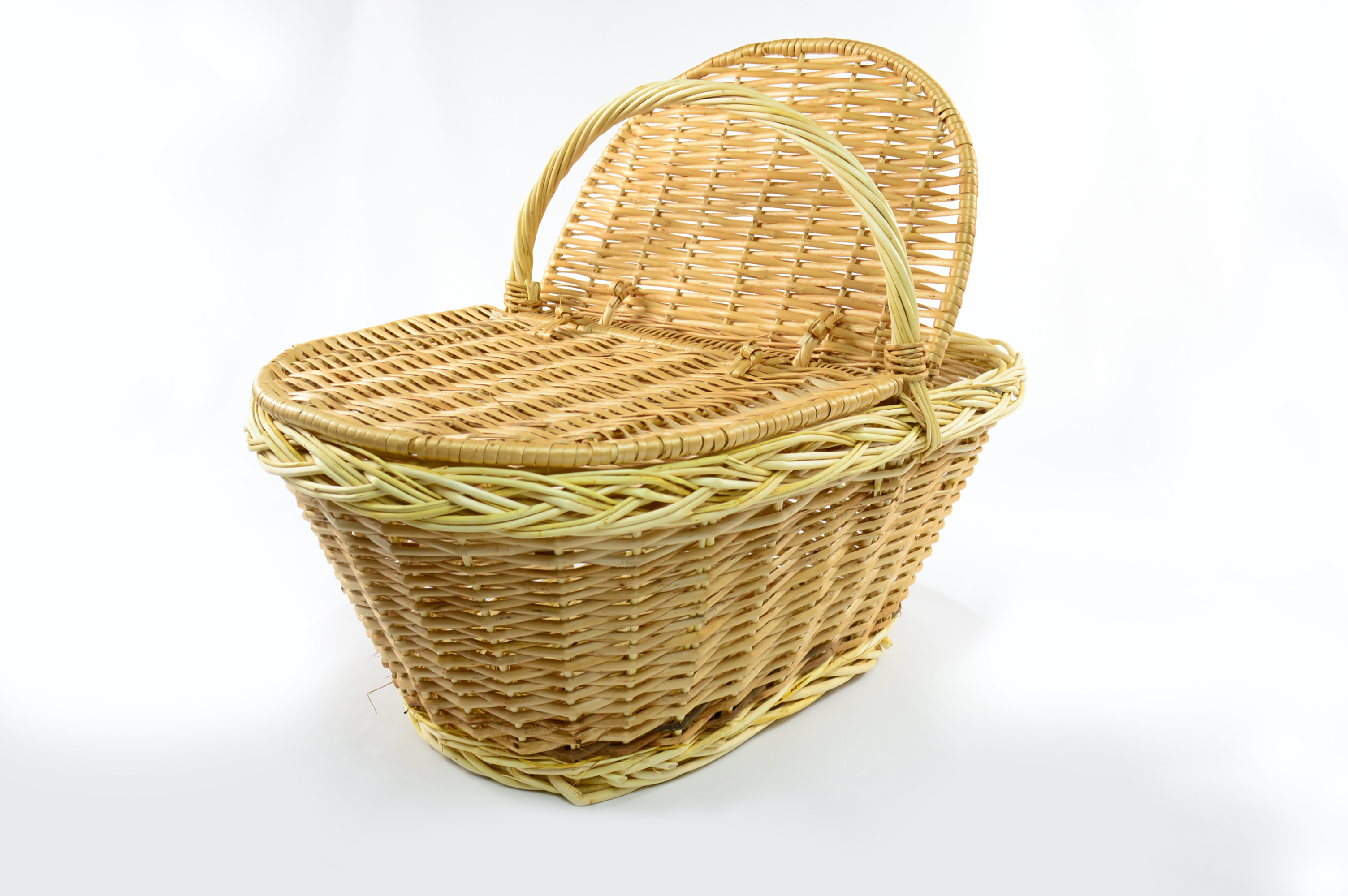 xxl woven wicker picnic basket with handle lid willow traditional storage hamper 5060469620961. Black Bedroom Furniture Sets. Home Design Ideas